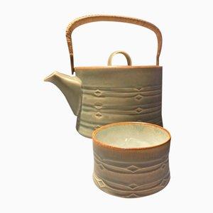 Théière & Sugar Bowl Mid-Century par Jens Harald Quistgaard pour Bing & Grondahl & Nissen, Set de 2