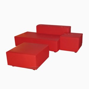 Model Isola Sofa & Pouf by Studio Cerri & Associati for Poltrona Frau, 2000s, Set of 2