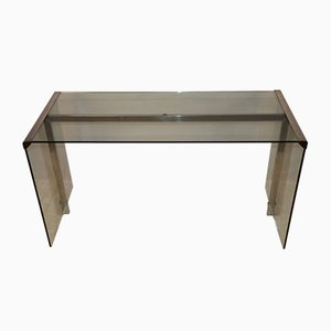 Glass and Chrome Desk from Gallotti & Radice, 1970s