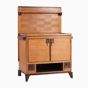 Art Deco Oak Hauge School Serving Cabinet by Anton Lucas, 1920s