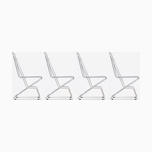 Vintage Wire Dining Chairs by Till Behrens for Schlubach, 1983, Set of 4