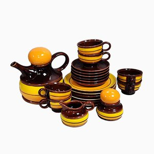 Vintage Havanna Coffee Set from Zell am Harmersbach, 1960s, Set of 21