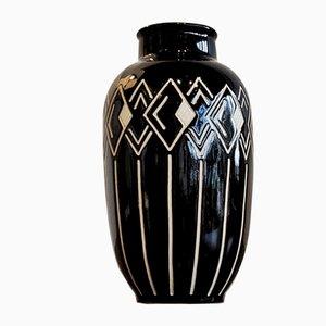 Vaso Sgraffito di Anton Piesche per Piesche & Reif (VEB Lausitzer Keramik), anni '60