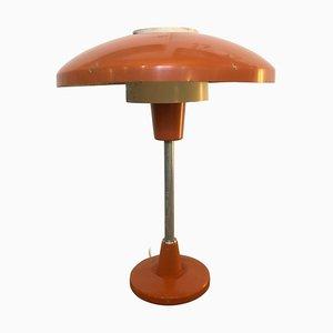 Mod. Mid-Century moderna arancione e bianca Lampada da tavolo nr. 8022 di Stilnovo, anni '60