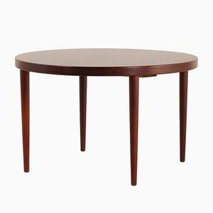 Mid-Century Rosewood Round Extendable Dining Table by Kai Kristiansen for Skovmand & Andersen, Denmark, 1960s