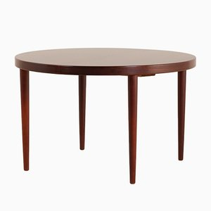 Mid-Century Rosewood Round Extendable Dining Table from Skovmand & Andersen, Denmark, 1960s