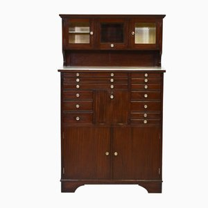 Vintage Mahogany Dental Cabinet from E.A.Drury & Co, 1920s