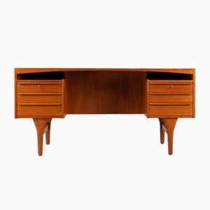 Mid-Century Modern Danish Teak Free Standing Desk by Valdermar Mortensen, 1960s