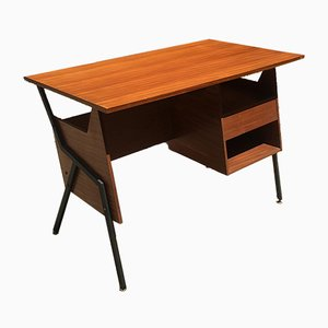 Scandinavian Style Desk in Black Metal Structure, 1960s