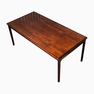 Mid-Century Mahogany Sofa Table by Ole Wanscher for Poul Jeppesens Møbelfabrik