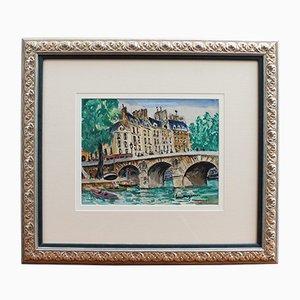 Pintura Le Pont Neuf de Lucien Genin, años 30