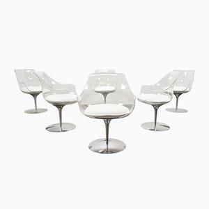 Champagne Stühle von Irvine & Estelle Laverne, 1960er, 6er Set