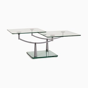 Glass and Chrome Intermezzo Function Coffee Table by Georg Appeltshauser for Draenert