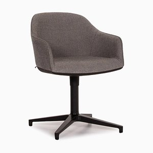 Grey Softshell Fabric Swivel Armchair from Vitra