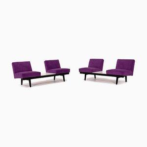 Canapés 2 Places en Tissu Violet de Herman Miller, Set de 2