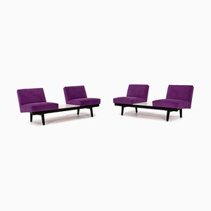 Purple Fabric 2-Seat Sofas from Herman Miller, Set of 2