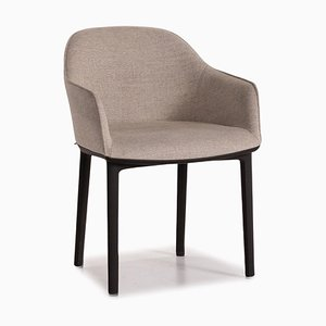 Grey Softshell Fabric Armchair from Vitra