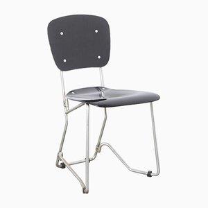Schwarzer Aluflex Stuhl von Armin Wirth für Ph Zieringer KG, 1950er