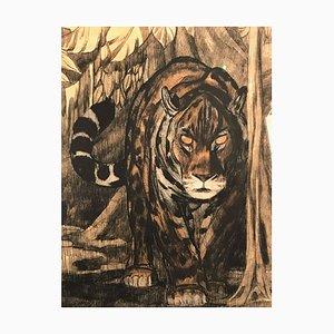 Grabado Panthere 2 de Paul Jouve, 1948