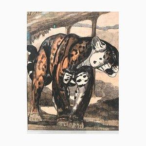 Grabado Panthere 1 de Paul Jouve, 1948