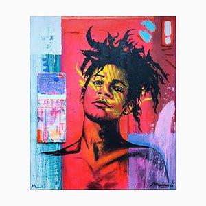Retrato de Jean-Michel Basquiat el niño radiante de Thomas Mainardi