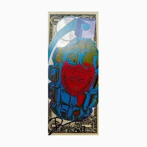 Blue Dom Perignon Grenade Digital Print by Death NYC, 2017