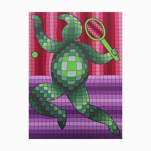 Joueur de Tennis Victor Vasarely, 1977