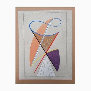 D3 Composition Geometrique 3 by César Domela, 1986