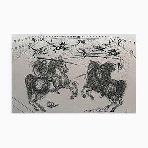 Cavaliers Battle in Schwarz & Weiß von Salvador Dalí, 1975