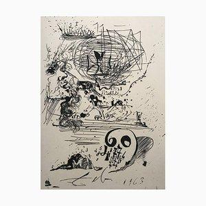 Study for a 2nd Dream von Salvador Dali, 1975