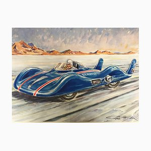 The Shooting Star Lithograph of the Mythical Renault by Géo Ham, 1956