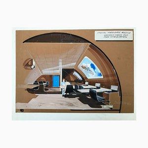 Orbital Spacebase Module Pastel by Raymond Loewy, 1970