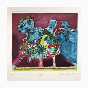 Aquatint Etching 1948 by Guillaume Corneille, 1988