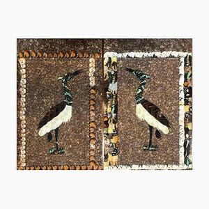 Collage Butterfly Wings Dyptique aux Aigrett de Moluh Seidou, 2017