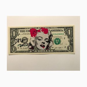 Pink Vampire Marylin Dollar Banknote by Death NYC, 2019
