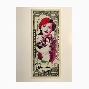 Geisha Marylin Dollar Banknote by Death NYC, 2017