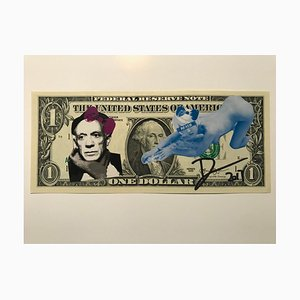 Picasso Blue Pin-Up Dollar Banknote by Death NYC, 2017
