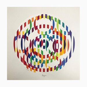 Magic Circe Lithograph by Yaacov Agam, 1976