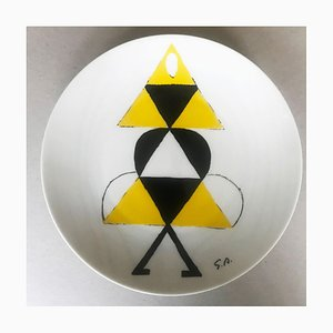 The Yellow Dancer Porcelain Plate, 1973