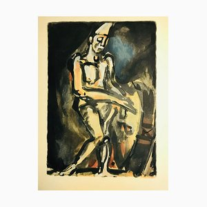 Rouault Clown Musician by Georges Rouault, 1959