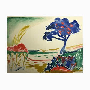 Landscape with Blue Trees by André Derain, 1959