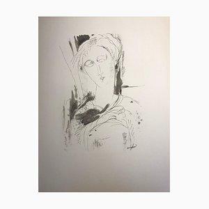 Litografia Portrait di Amadeo Modigliani, 1959