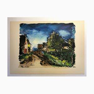 Paysage France par Maurice Vlaminck, 1959