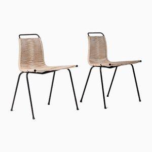 Model PK1 Side Chairs by Poul Kjærholm for E. Kold Christensen, 1950s, Set of 2