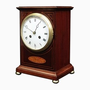 French Belle Epoque Mahogany Mantel Clock from Drocourt, 1900s