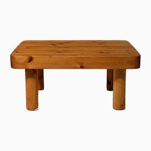 Tavolino da caffè quadrato in legno di pino, anni '60