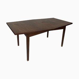 Vintage Scandinavian Rosewood Hexagonal Dining Table, 1960s