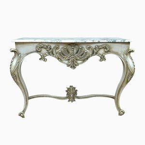 Louis XV Style Marble Console Table, 1970s