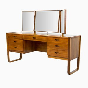 Walnut Dressing Table by Gunther Hoffstead for Uniflex, 1960s