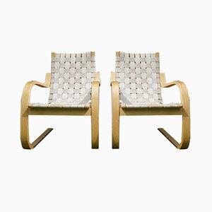 Vintage Model 406 Armchairs by Alvar Aalto for Artek, Set of 2